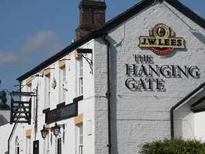outside the Hanging Gate pub