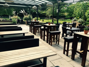 beer garden at the Netherton Hall pub
