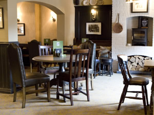 dining at the Parr Arms pub