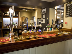 the bar at the Parr Arms pub
