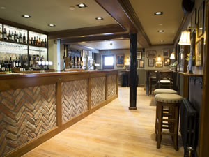 the bar at The Smoker pub