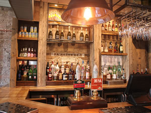the bar at The Crown pub